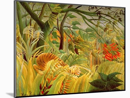 Tiger in a Tropical Storm (Surprised!) 1891-Henri Rousseau-Mounted Premium Giclee Print