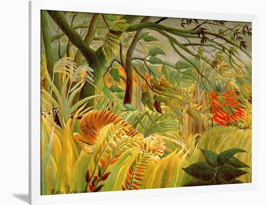 Tiger in a Tropical Storm (Surprised!) 1891-Henri Rousseau-Framed Giclee Print