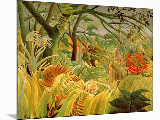 Tiger in a Tropical Storm (Surprised!) 1891-Henri Rousseau-Mounted Giclee Print
