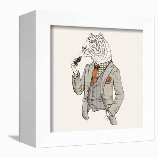 Tiger in Suit-null-Framed Premier Image Canvas