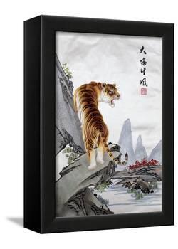 Tiger, Japanese-null-Framed Premier Image Canvas