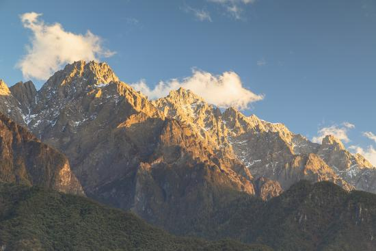 Tiger Leaping Gorge, UNESCO World Heritage Site, and Jade Dragon Snow Mountain (Yulong Xueshan), Yu-Ian Trower-Photographic Print