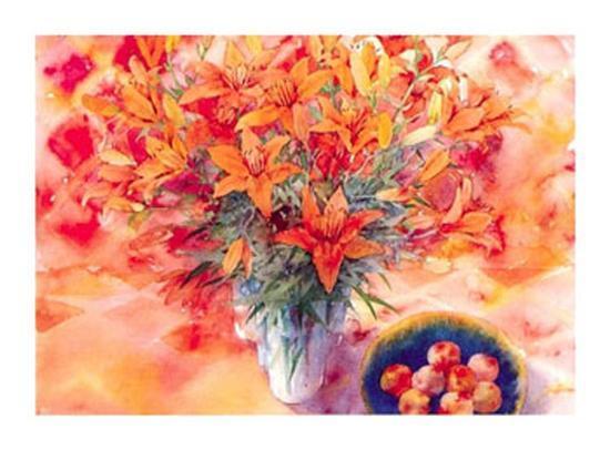 Tiger Lilies-Mae Book-Art Print