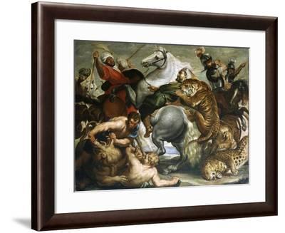 Tiger, Lion and Leopard Hunt, 1616-Peter Paul Rubens-Framed Giclee Print
