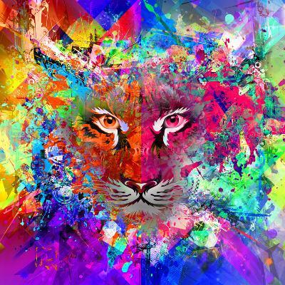 Tiger Multicolor-reznik_val-Art Print