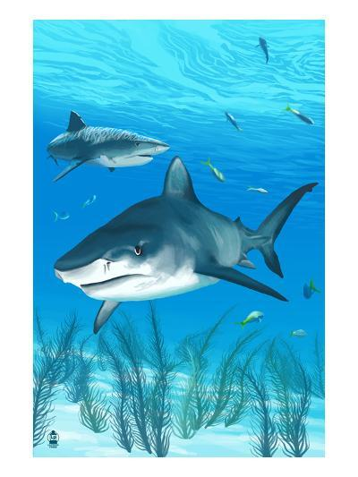 Tiger Shark-Lantern Press-Art Print