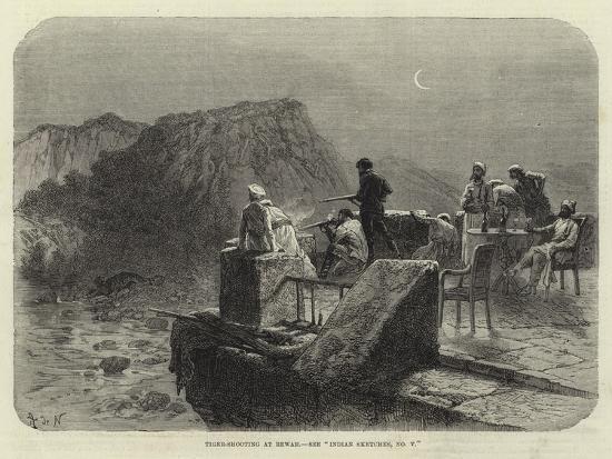 Tiger-Shooting at Rewah, See Indian Sketches, No V--Giclee Print