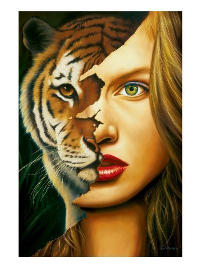 Tiger Within-Jim Warren-Premium Giclee Print