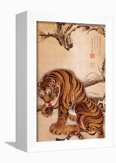 Tiger-Jakuchu Ito-Framed Premier Image Canvas