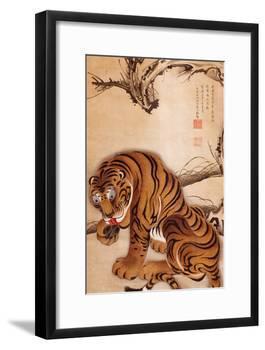 Tiger-Jakuchu Ito-Framed Giclee Print