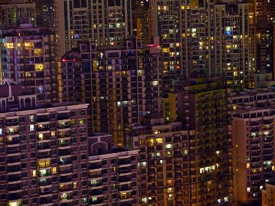 Tightly Packed Apartment Buildings in Shanghai--Photographic Print