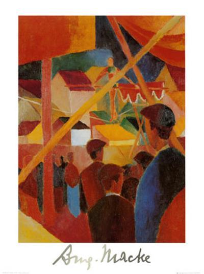 Tightrope Walker-Auguste Macke-Art Print