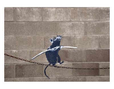 Tightrope-Banksy-Art Print