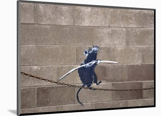 Tightrope-Banksy-Mounted Giclee Print