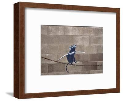 Tightrope-Banksy-Framed Giclee Print