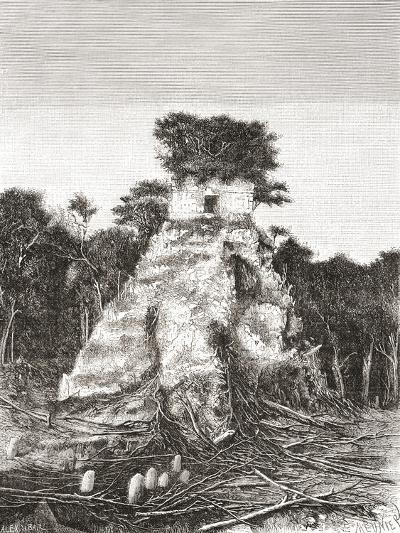 Tikal, Guatemala, Central America: the Temple of the Jaguar--Giclee Print