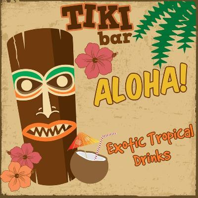 Tiki Bar Vintage Poster-radubalint-Art Print