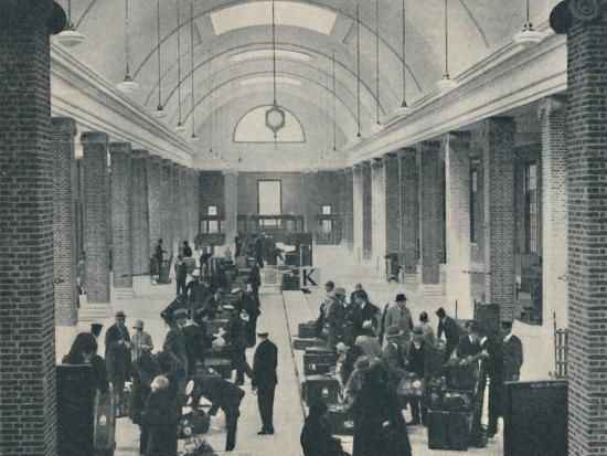 'Tilbury passenger baggage examined in a spacious new building', 1937-Unknown-Photographic Print