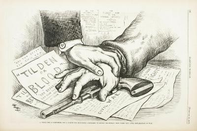 Tilden or Blood, 1877-Thomas Nast-Giclee Print