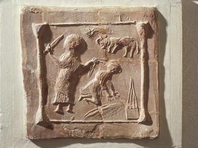Tile Depicting Abraham and the Sacrifice of Isaac from the Walls of a Christian Basilica--Giclee Print