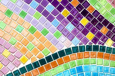 Tile Mosaic Pattern- thiroil-Photographic Print