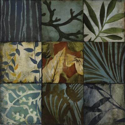 Tile Patterns II-John Douglas-Art Print