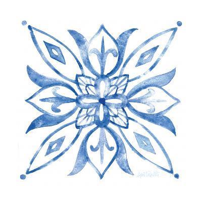 Tile Stencil II Blue-Anne Tavoletti-Art Print