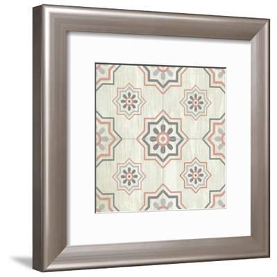 Tiled Grey 3-Kimberly Allen-Framed Art Print