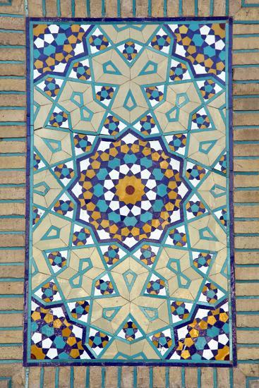 Tiled Mosque - Iran - Tomb of Hazrat Abdul Azim Hasani-saeedi-Photographic Print