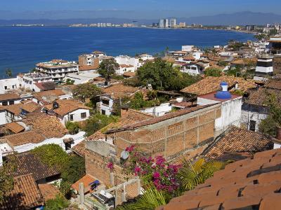 Tiled Roofs, Puerto Vallarta, Jalisco State, Mexico, North America-Richard Cummins-Photographic Print
