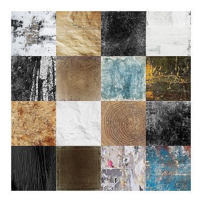 Tiles Decor Blue Notes 2-GraphINC-Art Print