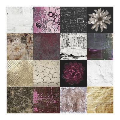 Tiles Decor Purple Notes-GraphINC-Art Print