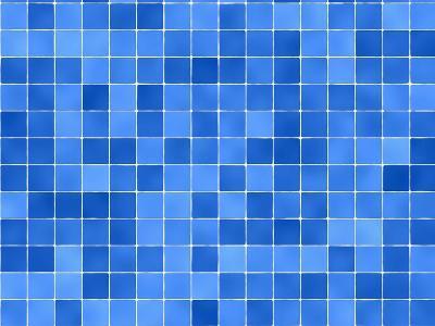 Tiles Mosaic In Blue And White-sfinks-Art Print