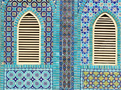 Tiling Round Shuttered Windows, Shrine of Hazrat Ali, Who was Assissinated in 661, Balkh Province-Jane Sweeney-Photographic Print