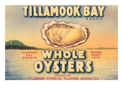 Tillamook Bay Whole Oysters--Art Print