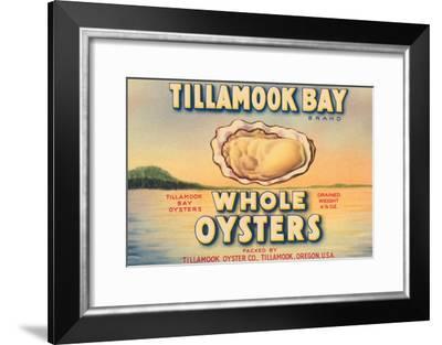 Tillamook Bay Whole Oysters--Framed Art Print