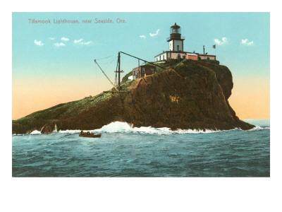 Tillamook Lighthouse, Seaside, Oregon--Art Print