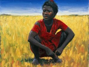 Girl in Red, 1992 by Tilly Willis
