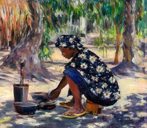 Woman Cooking, 2004 by Tilly Willis