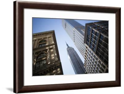 Tilt Shift Lens Image - Looking Up at Sykscrapers in Manhattan, New York. USA-Design Pics Inc-Framed Photographic Print