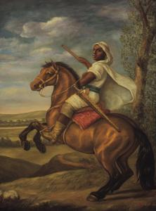 Moorish Chieftain on Horseback by Tim Ashkar
