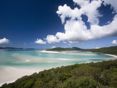 Whitehaven Beach from the Lookout on Whitsunday Island