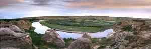 A bend in the Milk River, Writing-on-stone Provincial Park, Alberta, Canada by Tim Fitzharris