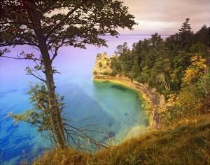 Castle Rock overlooking Lake Superior, Pictured Rocks National Lakeshore, Michigan by Tim Fitzharris