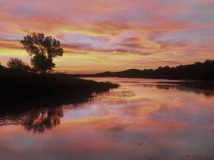 Elmer Thomas Lake, Wichita Mountains National Wildlife Refuge, Oklahoma by Tim Fitzharris