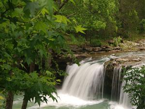 Falling Waterfall, Richland Creek, Arkansas, USA by Tim Fitzharris