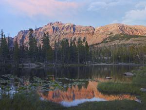 Hayden Peak at Butterfly Lake, Uinta Mountains, Utah by Tim Fitzharris