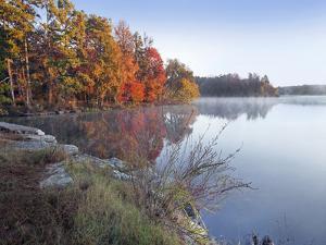 Lake Bailey at sunrise, Petit Jean State Park, Arkansas by Tim Fitzharris