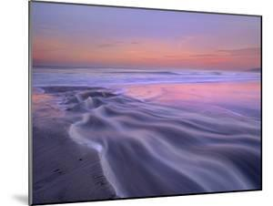 Fresh Water Stream Flowing into the Pacific Ocean, Zuma Beach, Malibu, California by Tim Fitzharris/Minden Pictures