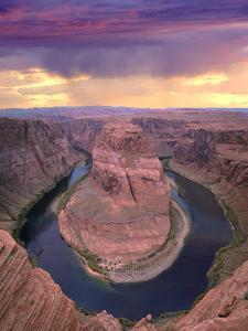 Storm Clouds over the Colorado River at Horseshoe Bend Near Page, Arizona by Tim Fitzharris/Minden Pictures